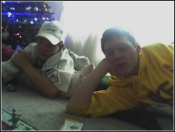 Stephen and Ryan playing Monopoly